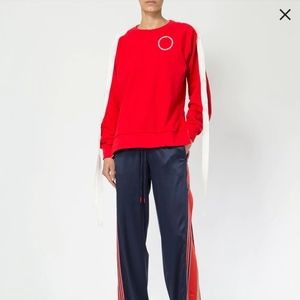 Monse raglan snap sleeve sweatshirt new with tag